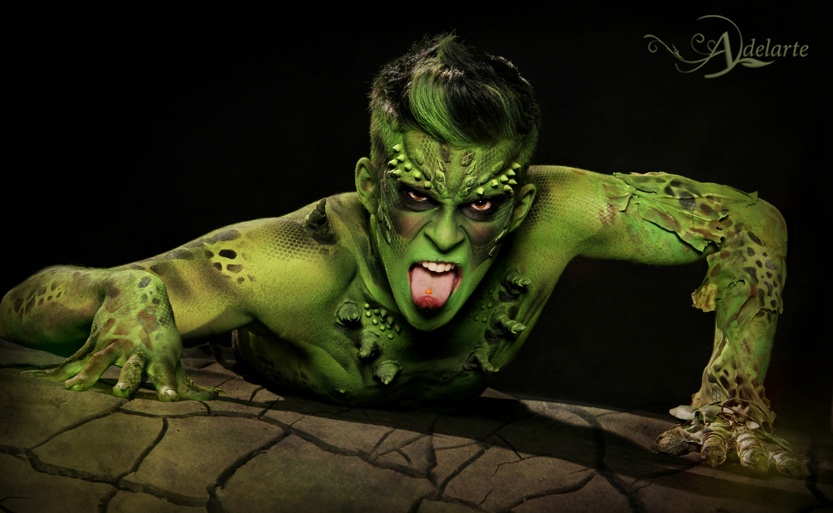 Adelarte Reptile Body Painting