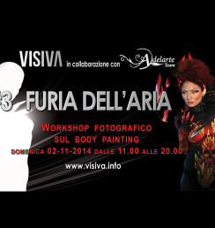 Adelarte  Workshop fotografico sul Body Painting  Air Fury  Roma