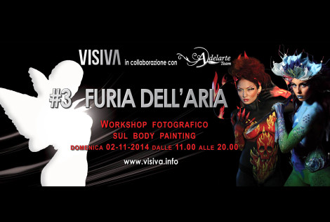Adelarte  Workshop fotografico sul Body Painting  Air Fury  Roma