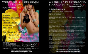 workshop di fotografia e bodypainting