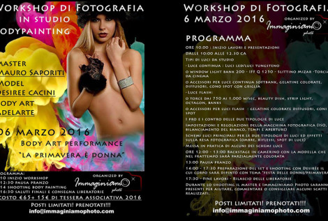 workshop di fotografia e bodypainting